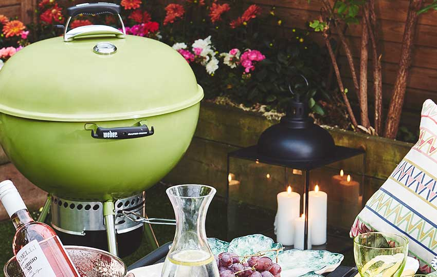 Alfresco dining with weber bbq