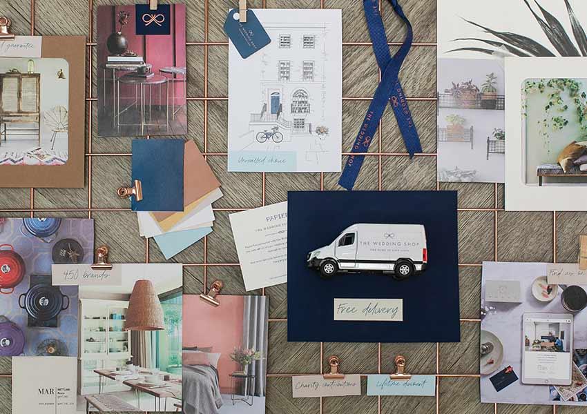 Wedding gift list service collage