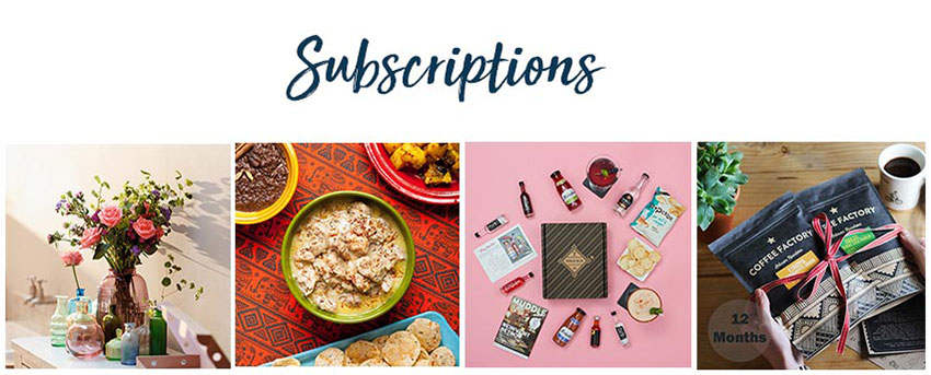 Subscription ideas at The Wedding Shop