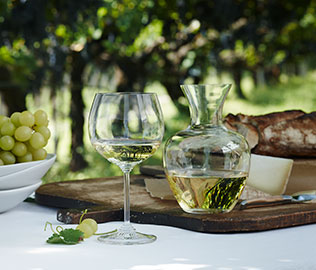 Wine glasses by Riedel