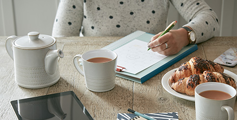 Building a gift list with Denby Tea set at TWS