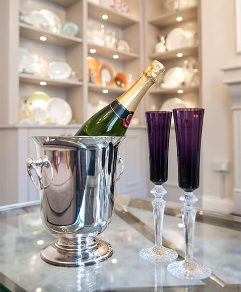 Dublin champagne flutes at appointment