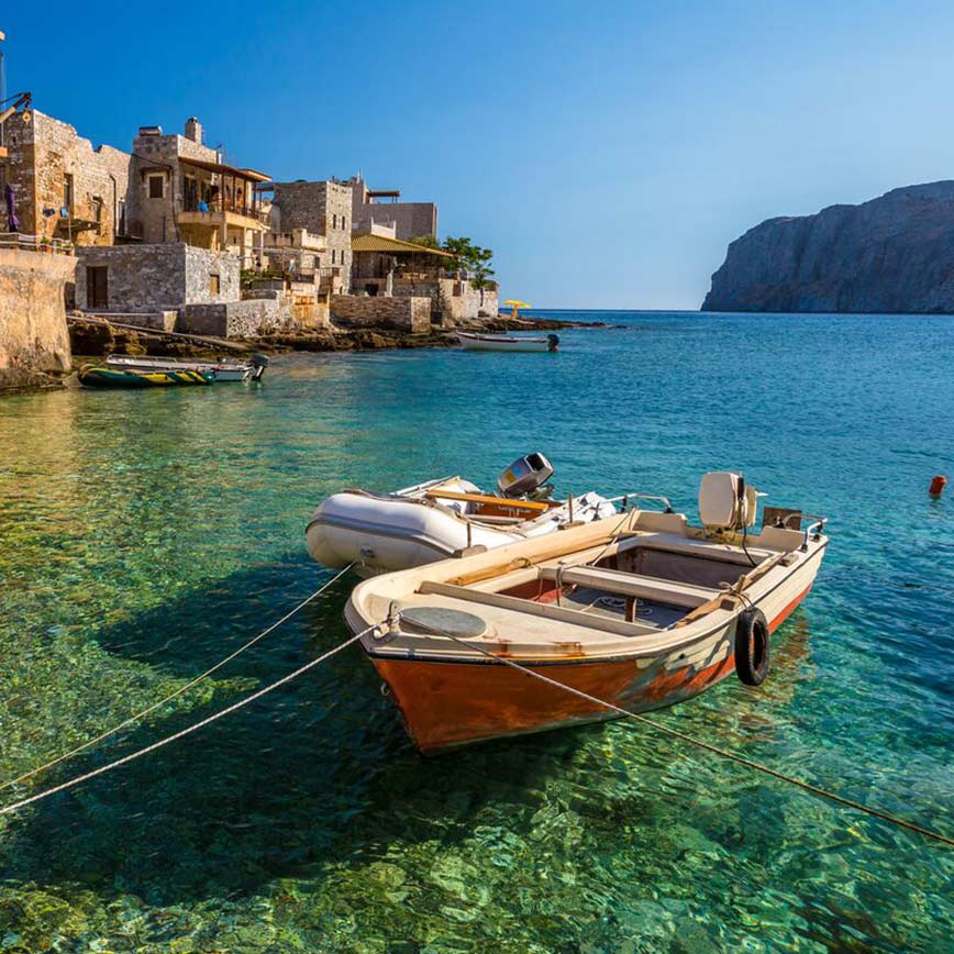 Peloponnese Honeymoon, 14 days from  €2,620